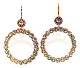 Large Circle Earrings with Clear Crystals
