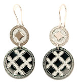 Dual Circles Earrings in Stainless Steel with Silver Glam