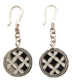 Small Circle Chain Earrings in Stainless Steel with Silver Glam