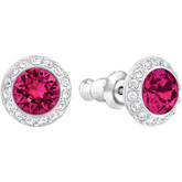 Swarovski Angelic Red Ruby Stud Earrings