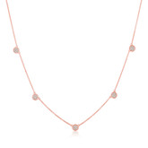 Crislu Pave Circles Chain Necklace in Rose Gold
