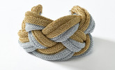 Adami & Martucci Silver and Gold Mesh Twisted Bracelet