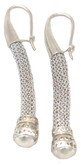 Adami & Martucci Silver Mesh Drop Earrings with Silver Beads