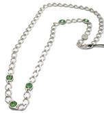 Rebecca Necklace with Green Swarovski Crystals