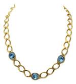 Rebecca Necklace with Blue Swarovski Crystals