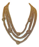 Adami & Martucci Gold Mesh 3-Strands Necklace with Knots