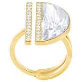 Swarovski Glow Half-Moon Shape Gold Ring