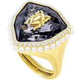 Swarovski Fancy Scarab Beetle Gold Ring