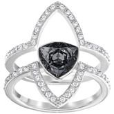 Swarovski Fantastic Black Crystal Ring Set