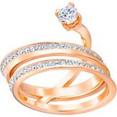 Swarovski Swirled Medium Rose Gold Ring