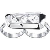 Swarovski Reverse Double Ring, by Jean Paul Gaultier for Atelier Swarovski