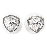 Swarovski Twice White Crystal Stud Earrings