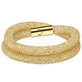 Swarovski Stardust Deluxe Double Wrap Bracelet, Gold