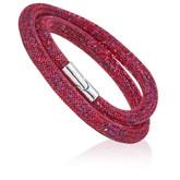 Swarovski Stardust Deluxe Double Wrap Bracelet, Ruby