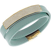 Swarovski Vio Celo Mint Green Leather Bracelet