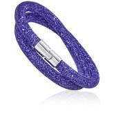Swarovski Stardust Deluxe Double Wrap Bracelet, Tanzanite Purple (M)