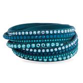 Swarovski Slake Deluxe Double Wrap Bracelet, Turquoise