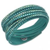 Swarovski Slake Deluxe Double Wrap Bracelet, Green