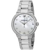 Swarovski Women's City White Watch with Stainless Steel Bracelet