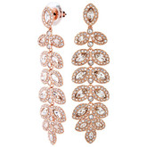 Swarovski Baron Gold-Tone Leaf-Shape Drop Earrings