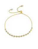 Crislu Bezel Set Adjustable Bracelet in Yellow Gold