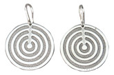 Rebecca Circle Earrings from Infinity Collection in Stainless Steel