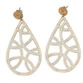 Large Teardrop Earrings in 18K Rose Gold