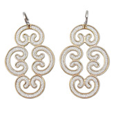 Hook Earrings from Louis XIV Collection In Rose Gold Plated Bronze