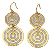 Double Circle Earrings in Rose Gold Plating