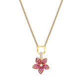Swarovski Tropical Pink Flower Pendant