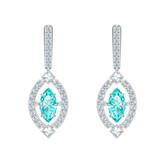 Swarovski Sparkling Dance Mint Crystal Earrings