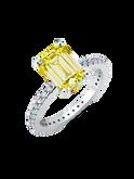 Crislu Canary Emerald Cut Ring