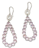 Teardrop Earrings with Lavender Pink Crystals