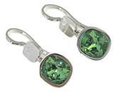 Small Earrings with Green Swarovski Crystals