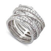 Crislu Sparkle Silver Ring