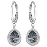 Swarovski Silver Night Earrings