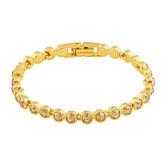 Swarovski Tennis Gold Bracelet