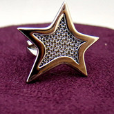 Adami & Martucci Silver Mesh Star Ring