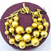 Adami and Martucci Multi-Strand Gold Balls Bracelet