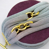 Adami and Martucci Silver Mesh Bracelet with Gold Links