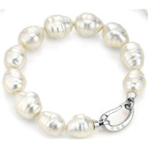 White Barrel Baroque Pearl Bracelet