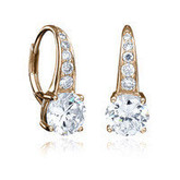 ROSE GOLD PLATED CLASSIC LEVERBACK EARRINGS
