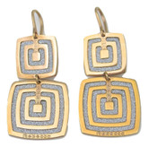 Rebecca Double Square Earrings in Rose Gold Plating, small