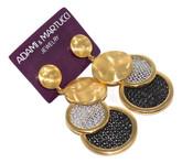 Adami & Martucci Tri-Circle Mesh Earrings