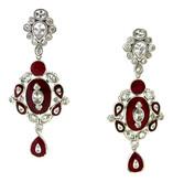 Oval Pear Indian Earrings, Plum