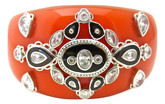 Indian Coral Bangle with Plum Enamel