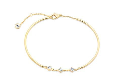 Crislu Brilliant Accented  Bracelet in Yellow Gold