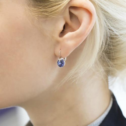 76d2edeb598f4b Swarovski Bella V Small Violet Earrings