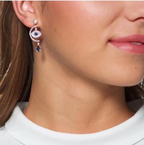 25ab433cfb6559 Swarovski Evil Eye Duo Earrings