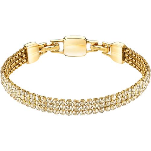 Swarovski Clim Crystal Mesh Bracelet, Yellow Gold